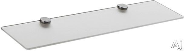 Hansgrohe Axor Uno Series 41550820 25 Inch Glass Shelf With Metallic Finish: Brushed Nickel