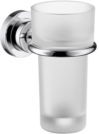 Picture of Hansgrohe Axor Citterio Series 41734 Wall Mount Toothbrush Tumbler/Holder with Metallic Finish