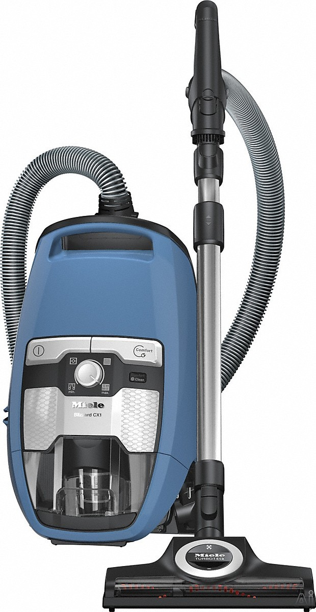 Miele Blizzard CX1 Series 41KCE042USA Blizzard CX1 TurboTeam Bagless Canister Vacuum Cleaner with Vortex Technology, Self-Clean Filter and Integrated Accessories