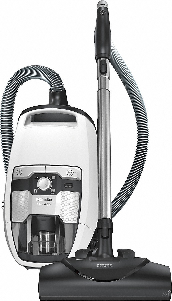 Miele Blizzard CX1 Series 41KCE043USA Blizzard CX1 Cat & Dog Bagless Canister Vacuum Cleaner with Vortex Technology, Self-Clean Filter and Integrated Accessories