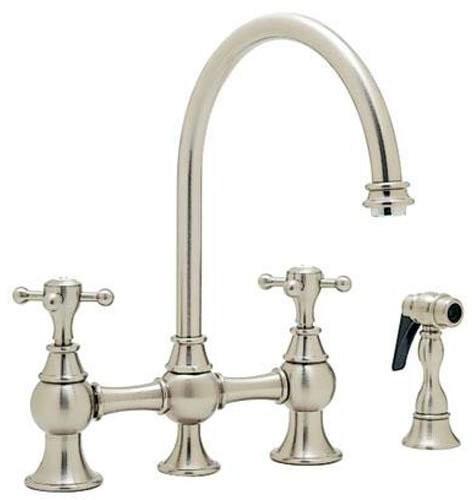 Blanco Bridge 157040ST Kitchen Faucet with Side Spray: Satin Nickel