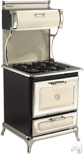 """Heartland Classic Collection 4210CDPBLK 30"""" Dual Fuel Range with 4 Sealed Gas Burners, 4.0 cu. ft., U.S. & Canada 4210CDPBLK"""
