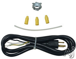 Whirlpool 4317824 3 Prong Dishwasher Power Cord Kit 110V 3 Wire