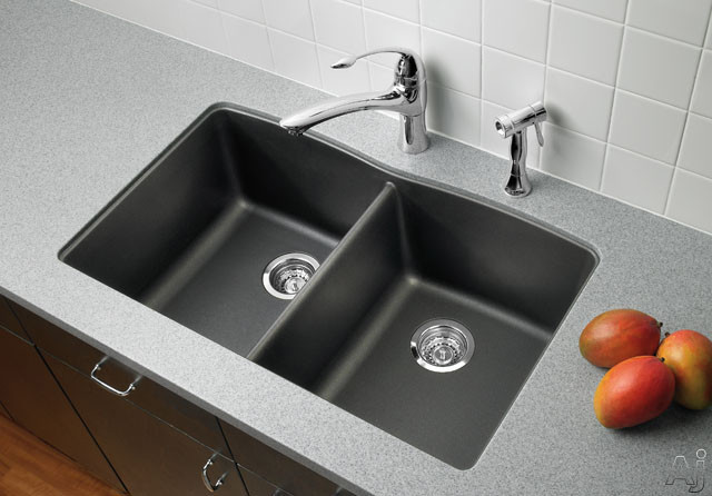 Blanco 441223 32 Quot Undermount Double Bowl Granite Sink With