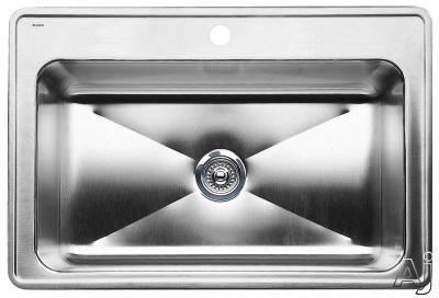 Blanco Magnum 440274 33 Inch Drop-In Large Single Bowl Stainless Steel Sink with 8 Inch Bowl Depth -  440206