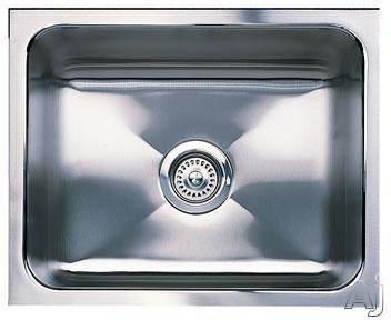 "Blanco Magnum 440292 21"" Undermount Single Bowl Stainless Steel Sink with 18-Gauge, 18/8 Chrome/Nickel Content, 3-1/2"" Drain and Satin Finish: 12"" Bowl Depth"