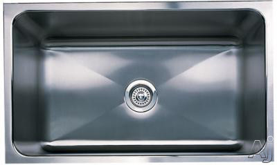 "Blanco Magnum 440298 31"" Undermount Single Bowl Stainless Steel Sink with 18-Gauge, 18/8 Chrome/Nickel Content, 3-1/2"" Drain and Satin Finish: 8"" Bowl Depth"