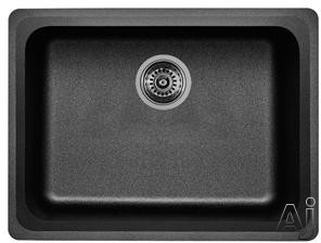 Picture of Blanco 441367 24 Inch Undermount Single Bowl Granite Sink with 8 Inch Bowl Depth Heat Resistant Up To 536 Degrees Farenheit and Scratch Resistant Anthracite