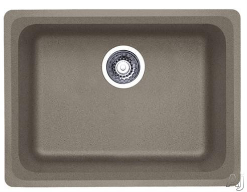 Picture of Blanco 441370 24 Inch Undermount Single Bowl Granite Sink with 8 Inch Bowl Depth Heat Resistant Up To 536 Degrees Farenheit and Scratch Resistant Truffle