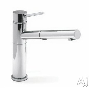 Picture of Blanco 441401 Single Lever Pull-Out Kitchen Faucet with 8 12 Inch Reach 9 12 Inch Height Dual Spray Pattern Ceramic Disk Cartridge and 22 GPM Flow Rate Chrome