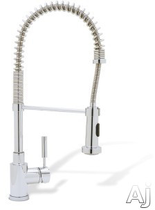 Blanco Meridian 441408X Single Lever Spiral Spring Kitchen Faucet with 8 3/8 Inch Reach, 19 1/4 Inch Height, Ceramic Disk Cartridge and 1.8 GPM Flow Rate