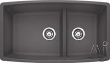 "Blanco Performa 441474 33"" Undermount Double Bowl Granite Sink with 10"" Bowl Depth, 4"" Divider, U.S. & Canada 441474"