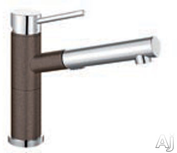 """Blanco Alta 441487 Single Lever Pull Out Spout Kitchen Faucet with 8"""" Reach, 8 3 / 8"""" Height, U.S. & Canada 441487"""