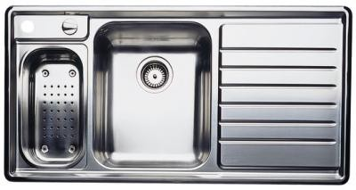 Blanco Double Sink With Drainboard : ... Design Double Bowl Stainless Steel Sink with Drainboard on Right