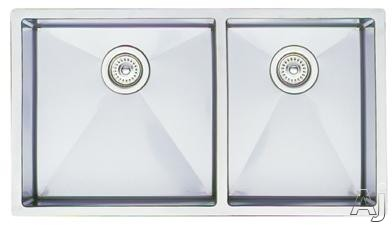 "Blanco Precision 515824 33"" Undermount Double Bowl Stainless Steel Sink with 10"" Bowl Depths, 18, U.S. & Canada 515824"