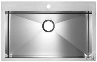 "Blanco Precision MicroEdge 516194 32"" Flush Mount Single Bowl Stainless Steel Sink with 10"" Bowl, U.S. & Canada 516194"