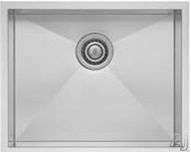 Blanco Quatrus Series 518478 22 Inch Undermount Single Bowl Stainless Steel Sink with 18 Gauge Stainless Steel and Sound Deadening Pads