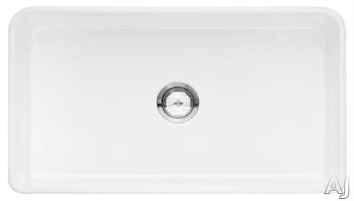 """Blanco 518540 30"""" Apron Front Single Bowl Fireclay Sink with 9 1 / 4"""" Bowl Depth, Reversible Design, U.S. & Canada 518540"""