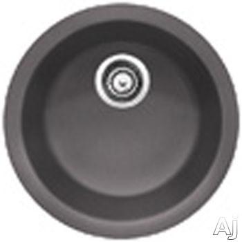 "Blanco Rondo 518911 18"" Undermount Single Bowl Round Granite Sink with 6-5 / 8"" Bowl Depth, 80%, U.S. & Canada 518911"