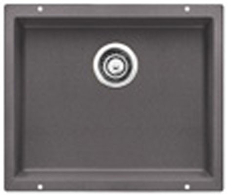 "Blanco Precis 519049 21"" Undermount Single Bowl Granite Sink with 7-1 / 2"" Bowl Depth, 80% Solid, U.S. & Canada 519049"