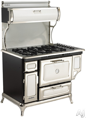 Heartland Classic Collection 720000GWHT 48 Inch Freestanding Gas Range with 6 Sealed Burners, 3.6 cu. ft. Manual Clean Oven, 16,500 BTU Bake/Broil Burner, Storage Compartment, Concealed Electronic Con
