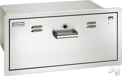 Image of Fire Magic Flush Mounted Doors 53830SW 30 Inch Flush Mounted Outdoor Warming Drawer with Moisture Regulation and Concealed Control