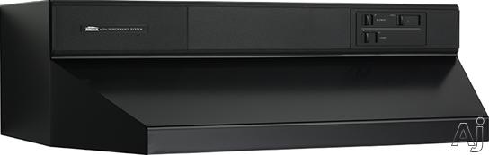 Broan 88000 Series 883623 36 Inch Under Cabinet Range Hood with 360 CFM Internal Blower and Standard Heat Sentry: Black