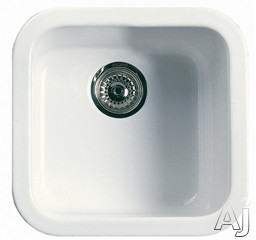 """Rohl Allia 592700 18"""" Fireclay Kitchen / Bar Prep Sink with 8-1 / 4"""" Deep Bowl, Stain / Thermal, U.S. & Canada 592700"""