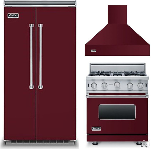 Viking gas range factory brand outlets - 3 piece kitchen appliance package ...