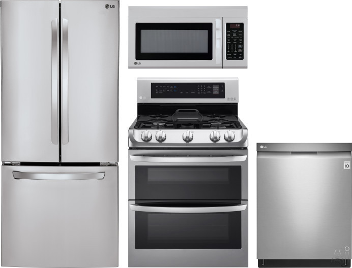 LG LGRERADWMW8352 4 Piece Kitchen Appliances Package