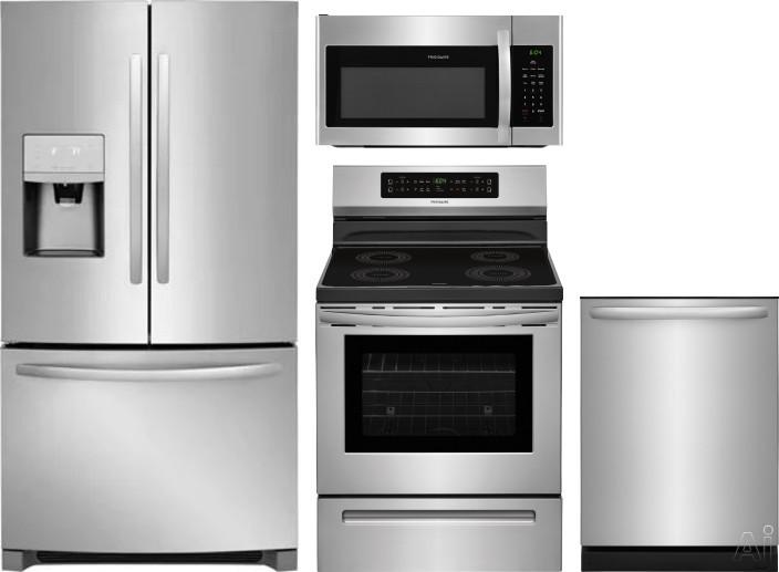 Frigidaire FRRERADWMW8987 4 Piece Kitchen Appliances Package