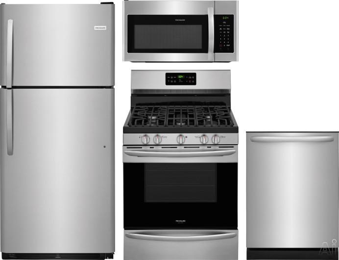 Frigidaire FRRERADWMW9017 4 Piece Kitchen Appliances Package