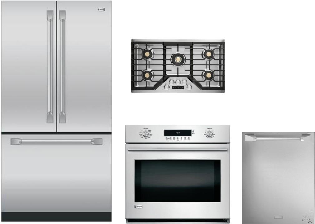 Monogram MORECTWODW95 4 Piece Kitchen Appliances Package