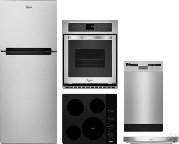 Whirlpool WPRECTWODWRH1 5 Piece Kitchen Appliances Package