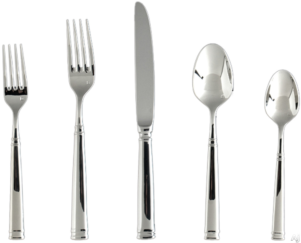 Fortessa 5PPS13020PC Bistro Stainless Steel 20-Piece Flatware Set with Heavy Gauge Stainless Steel and Balanced Design