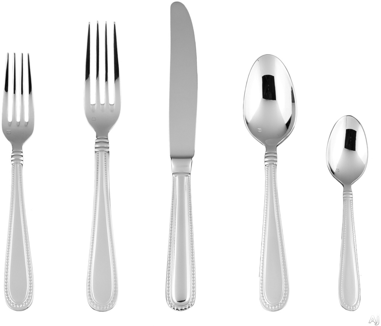 Fortessa 5PPS13620PC Caviar Stainless Steel 20-Piece Flatware Set with Heavy Gauge Stainless Steel and Balanced Design
