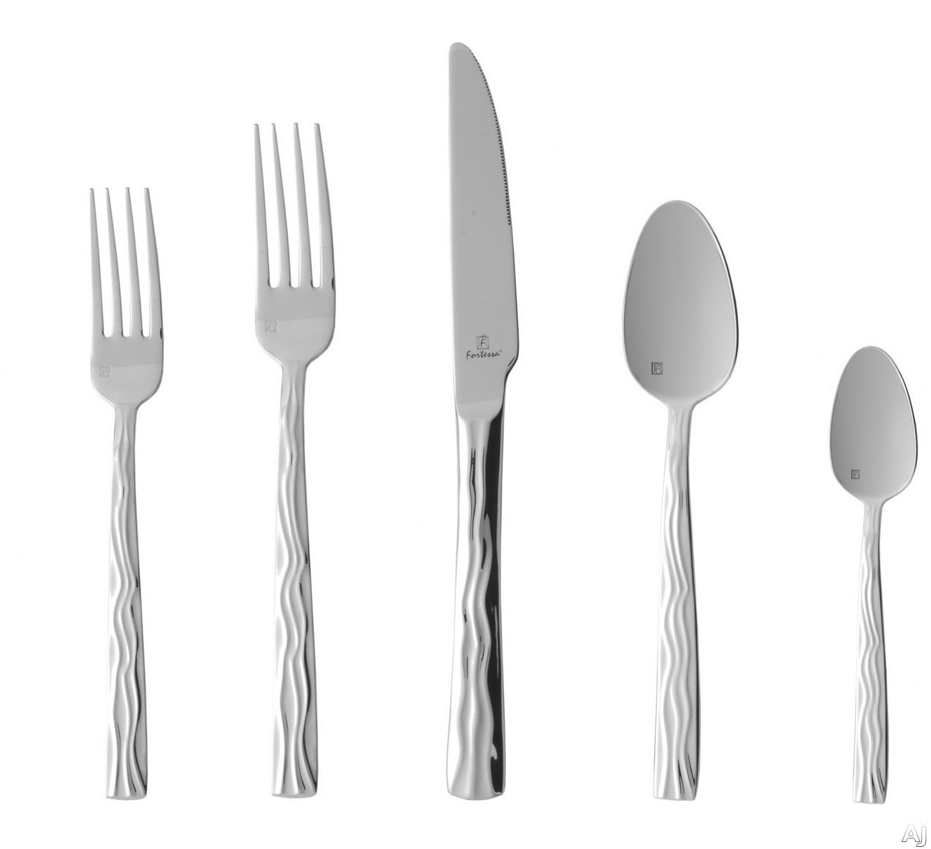 Fortessa 5PPS91020PC Dorada Stainless Steel 20-Piece Flatware Set with Heavy Gauge Stainless Steel and Balanced Design