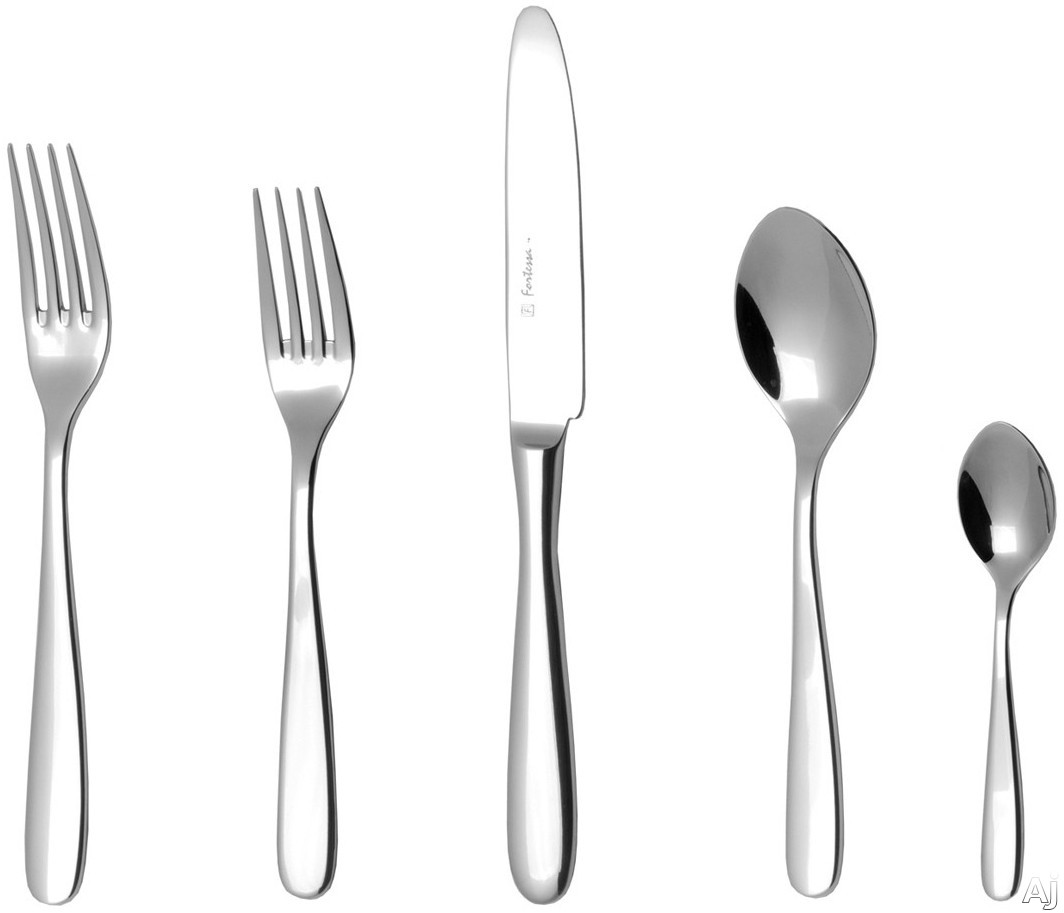 Fortessa 5PPS62220PC Grand City Stainless Steel 20-Piece Flatware Set with Heavy Gauge Stainless Steel and Balanced Design