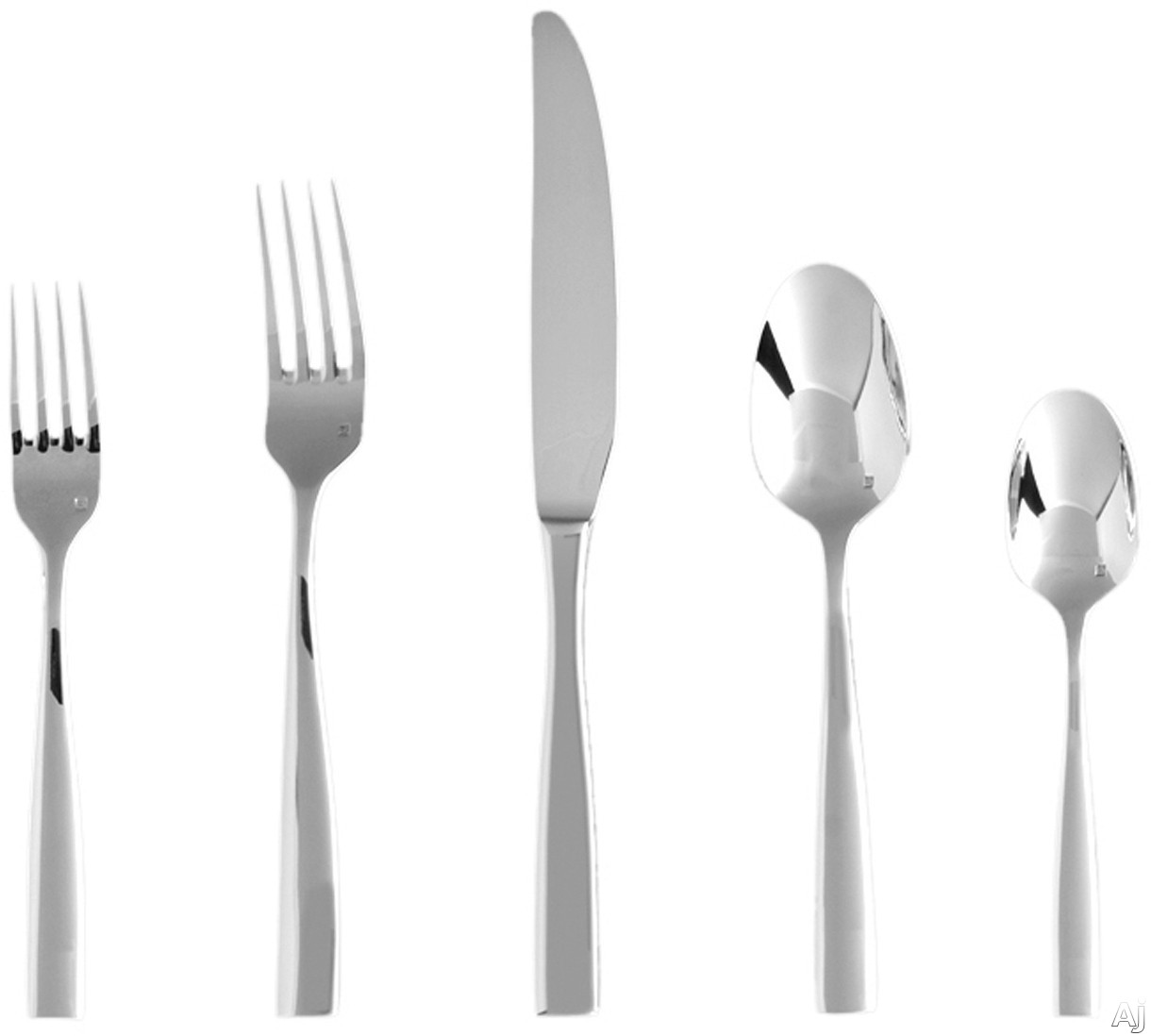 Fortessa 5PPS10220PC Lucca Stainless Steel 20-Piece Flatware Set with Heavy Gauge Stainless Steel and Balanced Design