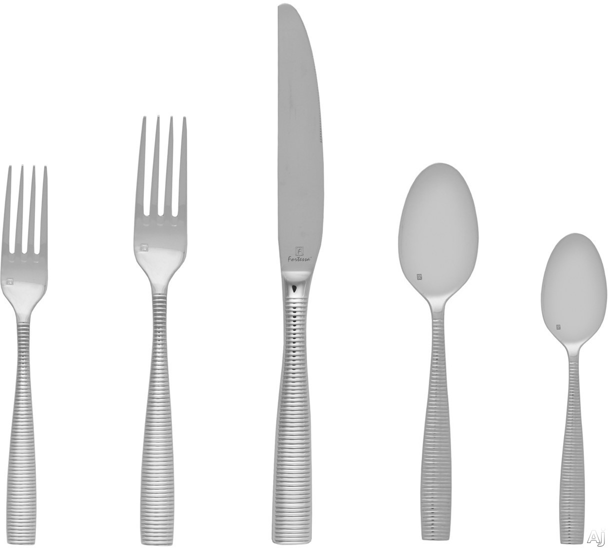 Fortessa 5PPS10320PC Ringo Stainless Steel 20-Piece Flatware Set with Heavy Gauge Stainless Steel and Balanced Design