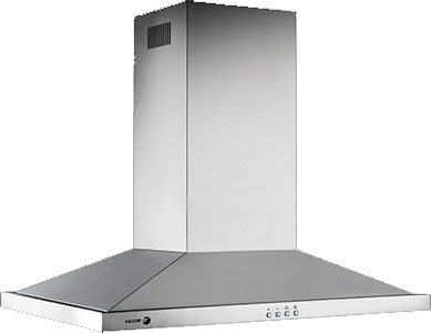 "Fagor 60CFP36IX 36"" Island Mount Chimney Range Hood with 600 CFM Internal Blower, 3 Fan Speeds, U.S. & Canada 60CFP36IX"