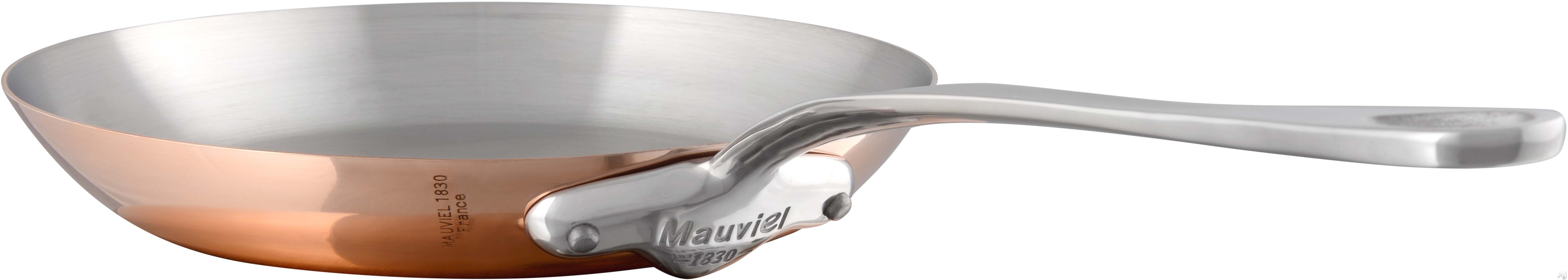 Mauviel 611326 M'150S 10-1/5 Inch Round Frying Pan with Copper Stainless Steel, High Performance and Non-Reactive