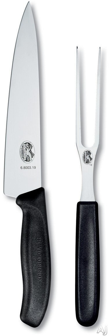 Victorinox 670002US1 Swiss Classic 2-Piece Carving Set with Ultrasharp Blade, Stainless Steel, Dishwasher Safe, Ergonomic Handle, Limited Lifetime Warranty, 8