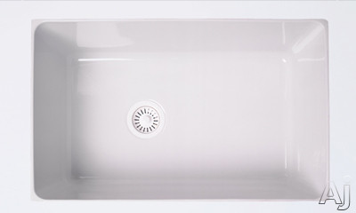 """Rohl Allia 630768 31"""" Undermount Fireclay Kitchen Sink with 10"""" Deep Bowl, Reversible Design and, U.S. & Canada 630768"""