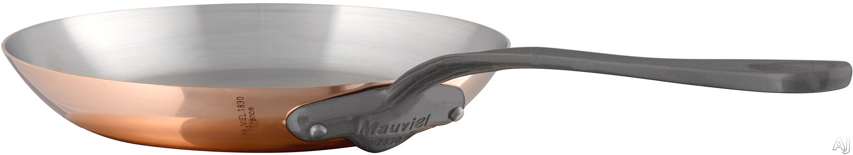 Mauviel 645326 M'150C2 10-1/5 Inch Round Frying Pan with Copper Stainless Steel, High Performance and Non-Reactive