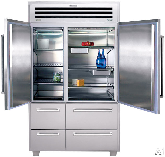 """Sub-Zero 648PRO 48"""" Built-in Side by Side Refrigerator with 18.4 cu. ft. Capacity, 3 Adjustable ..."""