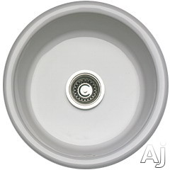 Rohl Shaws Original 6737 18 Inch Undermount Fireclay Round Bar Prep Sink with 6-7/8 Inch Bowl Depth and Stain/Thermal Shock Resistance