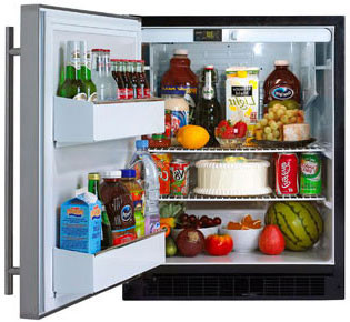"Marvel 6ADAMBSFLL 24"" Compact All-Refrigerator with 5.3 cu. ft. Capacity, 2 Wire Shelves, Tall, U.S. & Canada 6ADAMBSFLL"