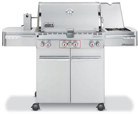 """Weber Summit 470 Series 7170001 66"""" Freestanding Gas Grill with 580 sq. in. Cooking Area, 4, U.S. & Canada 7170001"""