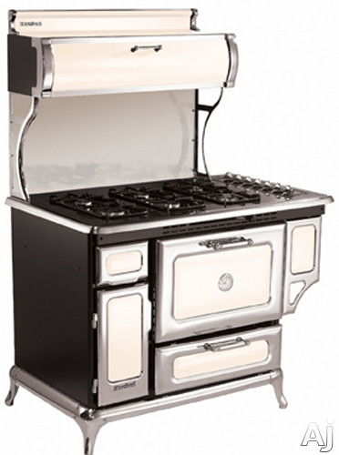 Heartland Classic Collection 720000GIVY 48 Inch Freestanding Gas Range with 6 Sealed Burners, 3.6 cu. ft. Manual Clean Oven, 16,500 BTU Bake/Broil Burner, Storage Compartment, Concealed Electronic Con